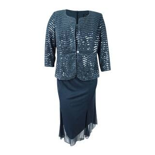 a0fede578cb Quick View. Was  100.99.  25.34 OFF. Sale  75.65. Alex Evenings Women s Plus  Size Sequined Chiffon Dress and Jacket ...