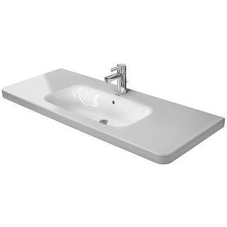"Duravit 2320120000 DuraStyle 47-1/4"" Ceramic Bathroom Sink for Vanity, Wall Mounted or Pedestal Installations with Single Faucet"