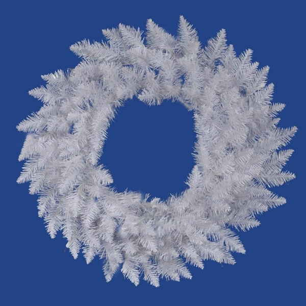 "30"" Sparkle White Spruce Artificial Christmas Wreath - Unlit"