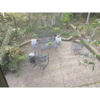 Safavieh Gateless Mist Chinoiserie Blue Garden Stool