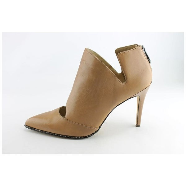 Carolinna Espinosa Womens Cameron Leather Pointed Toe Ankle Fashion Boots