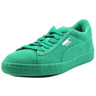 Puma Suede Jr Youth Round Toe Suede Green Sneakers