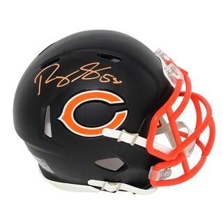 Roquan Smith Chicago Bears Flat Black Matte Riddell Speed Mini Helmet