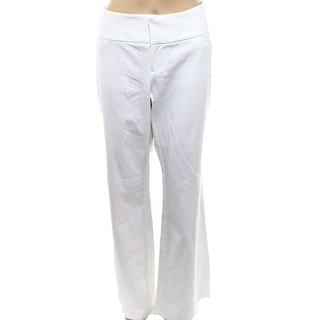 INC NEW White Women's Size 10X33 Solid Flare-Leg Seamed Curvy Pants