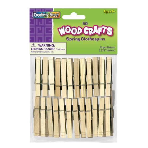 Spring Clothespins 50Pk