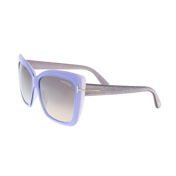 3567acdfa1e2e Shop Tom Ford FT0390 84Z IRINA Periwinkle White Oval Sunglasses - 59 ...
