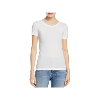 Vince Womens T-Shirt Jewel Neckline Casual - M