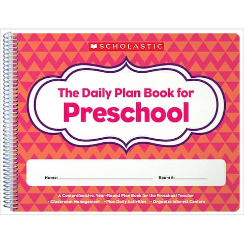Daily Plan Book For Preschool