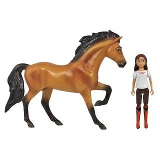 Spirit Riding Free Small Horse & Doll Set: Spirit & Lucky - multi