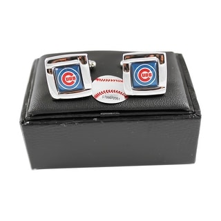 MLB Chicago Cubs Square Cufflinks With Square Shape Logo Design Gift Box Set
