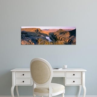 Easy Art Prints Panoramic Image 'River Passing Through Mountains, Big Bend National Park, Texas, USA' Canvas Art