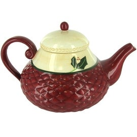 Russ Berrie Christmas Traditions Holiday Ceramic Teapot