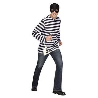 Mens Burglar Retro Halloween Costume - standard - one size