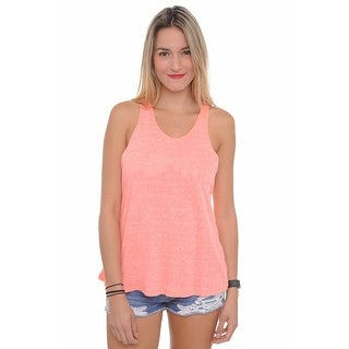 Women's Tank Top Tied Racer Back Lose Fit Athletic Wear Gym Workout Sleeveless Shirt