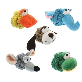 MultiPet 29035 Rope Head Animals Dog Toy, Small, 4""