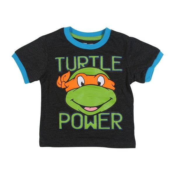 9dc36fa4a Shop Teenage Mutant Ninja Turtles Toddler Boys' Turtles Tee Shirt, Grey -  2T - Free Shipping On Orders Over $45 - Overstock - 22809673