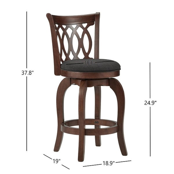 Verona Swivel 24-inch Counter Height Stool by iNSPIRE Q Classic