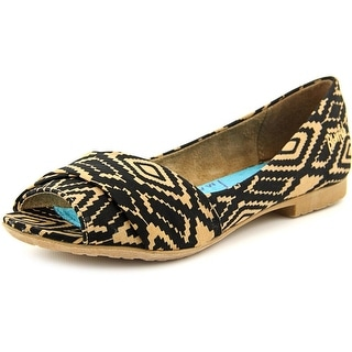 Blowfish Rale Women Open-Toe Canvas Flats