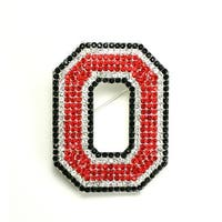 Ohio State University Crystal Pin
