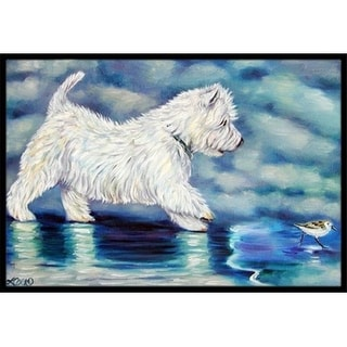 Carolines Treasures 7334MAT Misty Westie Indoor & Outdoor Mat 18 x 27 in.