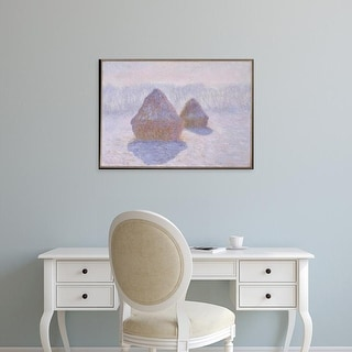 Easy Art Prints 's 'Haystacks' Premium Canvas Art