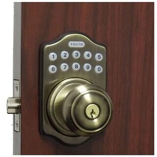 Lockey E-930 R  E Digital Series Keyless Entry Single Cylinder Electronic Door Knob Set with Key Override