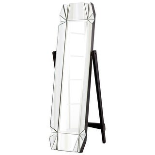 """Cyan Design 8731 Paramour 69"""" Tall Beveled Glass Standing Mirror - Black - N/A"""