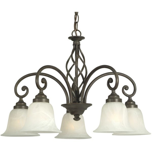 Dolan Designs 185 5 Light Down Lighting Chandelier From The Wicker Park Collection Olde World
