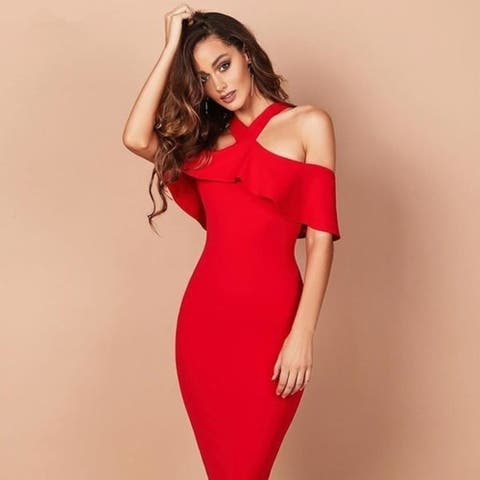Women Bandage Dress Celebrity Party Dress 4 9