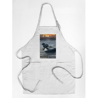 Minnesota Loons - Lantern Press Artwork (Cotton/Polyester Chef's Apron)