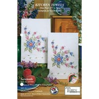 "Stamped Kitchen Towels For Embroidery 17""X30"" 2/Pkg-Serenade"