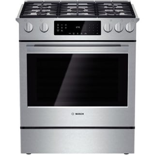 Bosch HGI8054UC 30 Inch 4.8 Cu. Ft. Gas Slide-In Range with Convection from the 800 Series - Stainless Steel