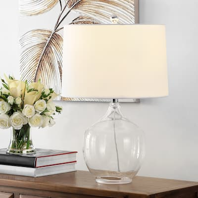 """SAFAVIEH Lighting Orlen 24-inch Clear Glass LED Table Lamp - 15"""" W x 15"""" L x 23.5"""" H"""