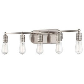 Minka Lavery 5136 5 Light Bathroom Vanity Light from the Downtown Edison Collection