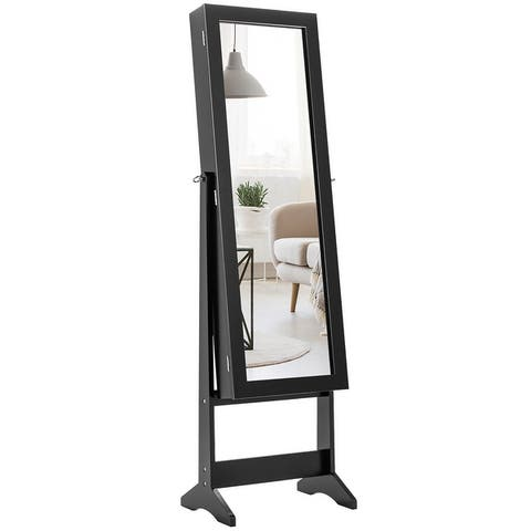 Jewelry Armoire Cabinet with Full-length Mirror Standing