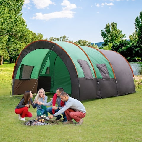 Outdoor Tent Camping 8-10 Person Weatherproof Durable With Carry Bag
