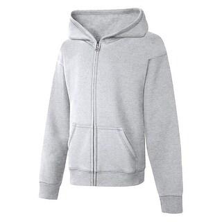 Hanes ComfortSoft EcoSmart Girls' Full-Zip Hoodie Sweatshirt - S