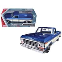 1979 Ford F-150 Pickup Truck 2 Tone Blue/Cream 1/24 Diecast Model Car by Motormax
