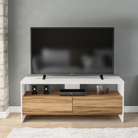 "Boahaus Phoenix TV Stand, TVs up to 55"", 02 Drawers, 01 Open Shelf - 54 inches in width"