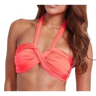 Seafolly NEW Red Hot Women's Size 4 Halter Bandeau Bikini Top Swimwear