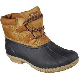 the latest a57c1 f52f6 ... Skechers Women s Hampshire Duck Boot Navy Tan ...