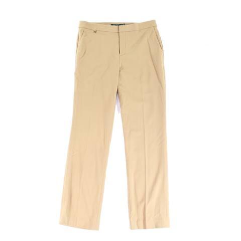 Lauren By Ralph Lauren Beige Womens Size 14 Flat Front Dress Pants