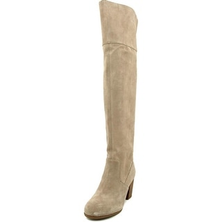 Jessica Simpson Ebyy Women Round Toe Suede Gray Over the Knee Boot