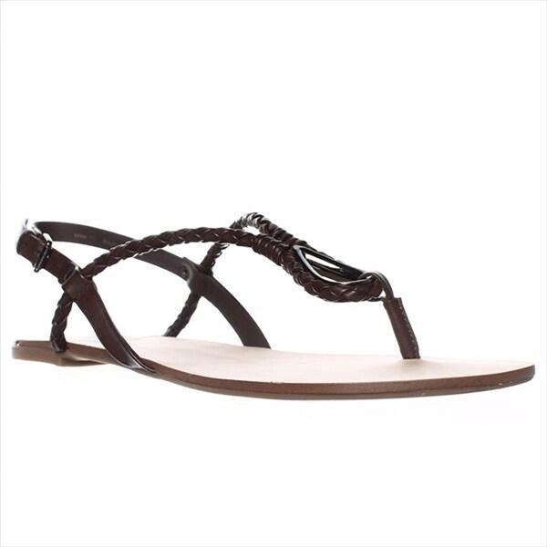 DV by Dolce Vita Devah Flat Sandals - Brown - 10