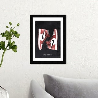 Link to Wynwood Studio 'Classic Sneakers' Fashion and Glam Wall Art Framed Print Shoes - Red, Black Similar Items in Art Prints