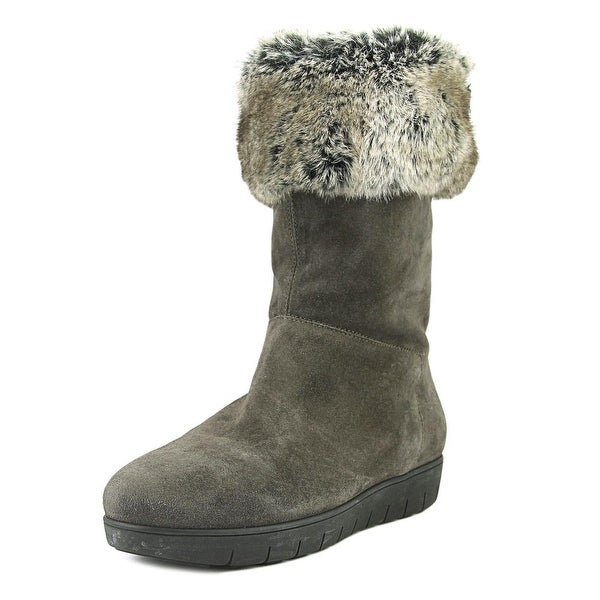 Aquatalia By Marvin K Willow Women Round Toe Suede Gray Winter Boot