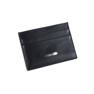 Roberto Cavalli Men's Black Taurus Man Mad Leather Cardholder wallet - M