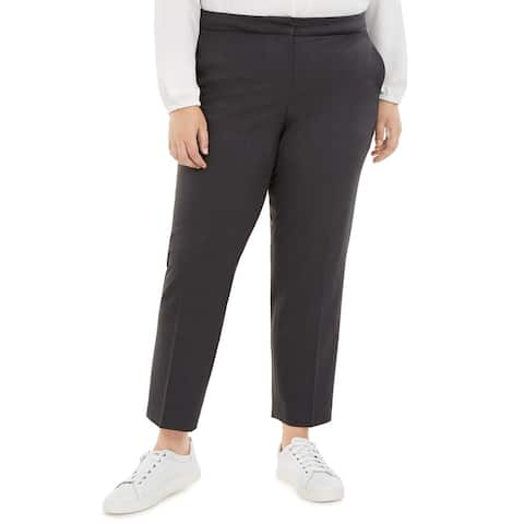 Bar III Women's Trendy Plus Size Dress Pants Black Size 18