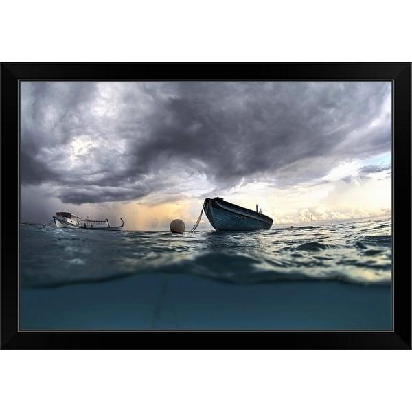 """The Boat"" Black Framed Print"