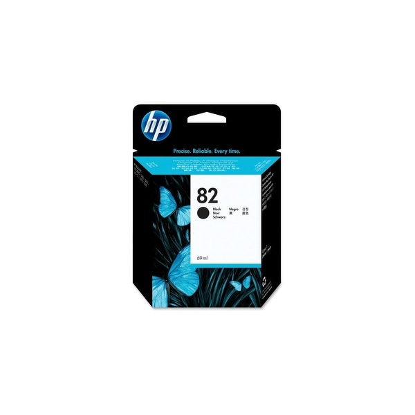 HP 82 28-ml Black DesignJet Ink Cartridge (CH565A)(Single Pack)